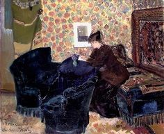 Interior of Brøndum's Hotel, Skagen, with Artists by Christian Krohg, 1888 Pablo Picasso, Luxury Vinyl Plank, Painting Process, Skagen, Reading Room, Academia, Impressionist, Oil On Canvas, Book Art