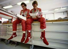 Ayrton Senna and Gehrard Berger