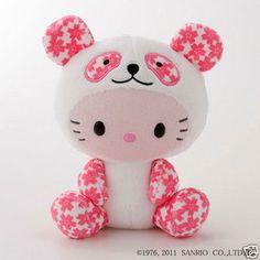Cheri Panda × Hello Kitty collaboration Stuffed toy sanrio Official Kawaii Pink