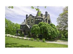 Historic landmark on the coast of Maine in Camden. Norumbega Castle exemplifies Victorian architecture & can be used as a private residence or an operating 12+ room inn. Stunning period woodwork, ornate fireplaces, paneling, beautiful grounds & bay views. #zillow