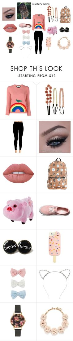 """""""Gravity Falls: Adult Mabel Pines"""" by baljitkaur ❤ liked on Polyvore featuring Gucci, Carole, Lime Crime, Disney, Vans, Tory Burch, Decree, Lipsy, Olivia Burton and J.Crew"""