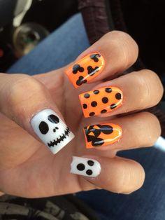 Halloween Disney nails #mickey #halloween #nails