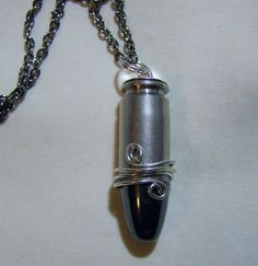 Hey, I found this really awesome Etsy listing at https://www.etsy.com/listing/173831906/hematite-silver-bullet-jewelry-pendant