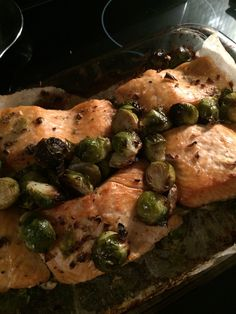 Salmon with brussels sprouts http://mobile.eatingwell.com/recipes/salmon_brussels_sprouts.html