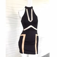 LF bodycon dress Tight, classic going out dress. Great for an event, date or cocktail party. Very stretchy and forgiving. Sheet detailing on side and on back. Cutout in the back. Worn one time - excellent condition. LF Dresses Mini