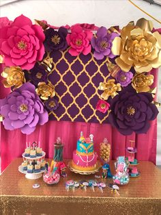 Shimmer And Shine Dessert Table Party Ideas Desserts India Theme