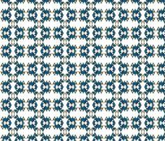 250px-Dymaxion_map_ocean fabric by chrismerry on Spoonflower - custom fabric