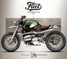 Fuel Bespoke BMW R1100R Scrambler by Holographic Hammer