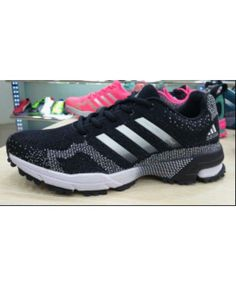 dc7dffd8acd3d 2015 Men s Adidas Marathon Flyknit Running Shoes Black Silver Sale