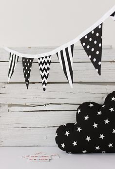 black & white flags