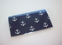 Checkbook Cover / Holder / Case   Anchors navy blue by Laa766, $6.75