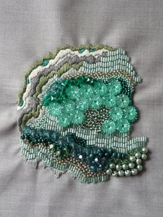 anna jane searle. beautiful work with beads and thread