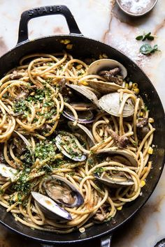 Buttery Mushroom and Clam Pasta