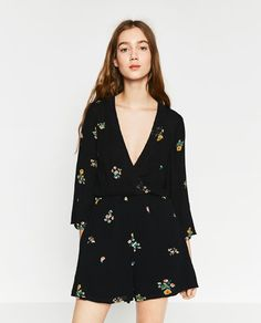 Image 3 of SHORT CROSSOVER JUMPSUIT from Zara
