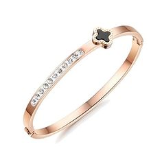 My.Monkey Diamond Design Contracted Shinny Rosegold Girl Bracelet