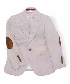 This Tan & Brown Elbow Patch Blazer - Toddler & Boys by Elie Balleh is perfect! #zulilyfinds