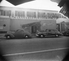 Historic Photograph of Mocombo Nightclub.  I only went here once but I have never forgotten it.  Eartha Kitt was starring