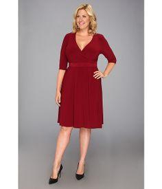 Kiyonna Essential Wrap Dress Cabarnet - Zappos.com Free Shipping BOTH Ways