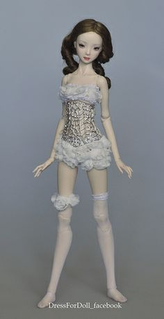 silver sterling corset for enchanted doll