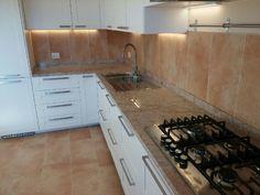 Cucina in marmo con lavelli assemblati € 1800.00 crema avorio ...