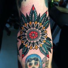 Sarah Keeley as featured on Swallows & Daggers. www.swallowsndaggers.com #tattoo #tattoos #mandala