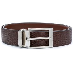 Canali textured buckle belt (3.538.895 IDR) ❤ liked on Polyvore featuring men's fashion, men's accessories, men's belts, brown, mens brown belt, mens leather accessories, mens real leather belts, mens genuine leather belts and mens leather belts
