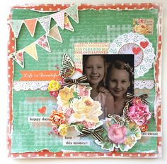 Tropical Punch Collection : Life is Beautiful Layout by Amanda Baldwin