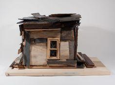 Beverly Buchanan, Cedar House with Poplar Base, Wood and Plastic. H 13 1/4 x L 15 3/4″ x W 20 1/2″, 2009