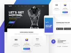 Hypber by Ranjith Alingal - Dribbble Web Design, Pricing Table, Ui Web, Workout Session, Get Moving, Landing Page Design, Design Development, App, Let It Be