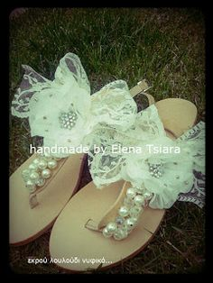 elenas sandals: Δαντέλα και Γάμος