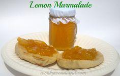 Lemon Marmalade Recipe - refrigerator jam ~ WonkyWonderful.com