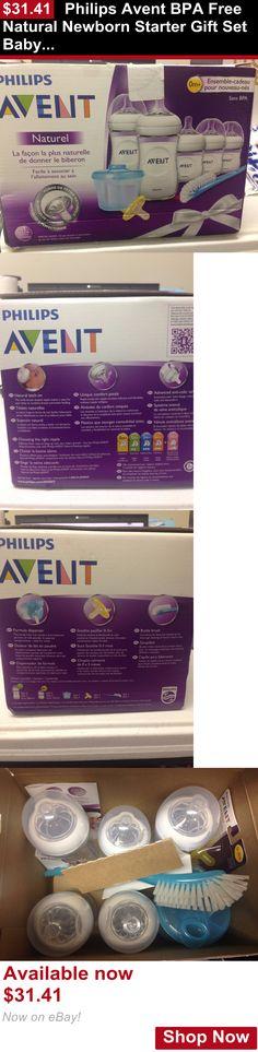 Baby Bottles: Philips Avent Bpa Free Natural Newborn Starter Gift Set Baby Bottles C35 BUY IT NOW ONLY: $31.41