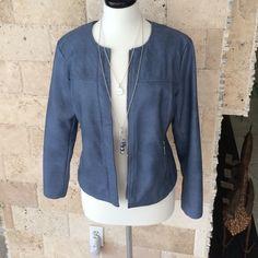 """Selling this """"NWOT Alfani pleather light weight jacket."""" in my Poshmark closet! My username is: tberes103. #shopmycloset #poshmark #fashion #shopping #style #forsale #Alfani #Jackets & Blazers"""
