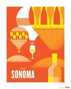 California wine poster: See Sonoma.