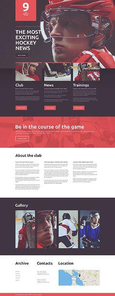 #IceHockey Team  #Joomla Sports template $75