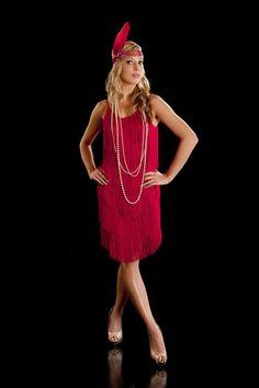 Beautiful Fringe Flapper 1920's Charleston Dress. Red S | Etsy