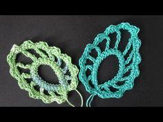 """Inizia a lavorare a maglia - foglia Video Tutorial Uncinetto »Knitting irlandese attraverso il cavo"""" gusenichka """"- Crochet - Lezione №344"""