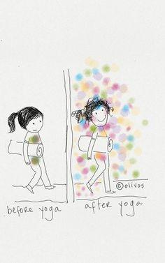 Yoga lover - Doodle wall art - Yoga Lovers gifts - Yoga print on canvas - Yoga studio print - Encour Yoga Flow, My Yoga, Quotes About Yoga, Yoga Quotes, Yoga Meme, Yoga Humor, Ayurveda, Doodle Wall, Yoga Video