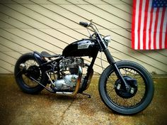 '68 Bonneville, rigid, 650cc T120 by patolocosurf | Bobber Inspiration - Bobbers and Custom Motorcycles | patolocosurf July 2014