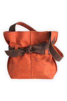 Artelusa Cork Handbag with Bow