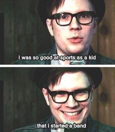 Patrick Stump ❤️ -- this is one of my favorite posts bc I'm not that great at P.E. bc of my pocky-stick arms and stubby legs