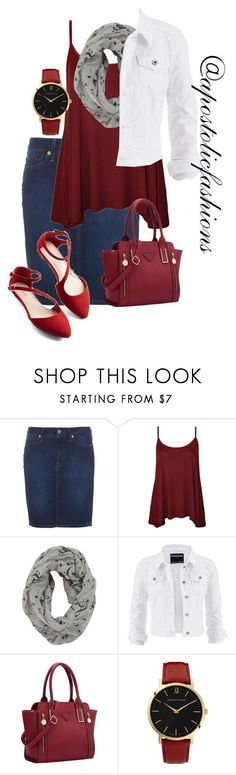 """Apostolic Fashions #1255"" by apostolicfashions ❤ liked on Polyvore featuring 7 For All Mankind, WearAll, maurices and Larsson & Jennings"