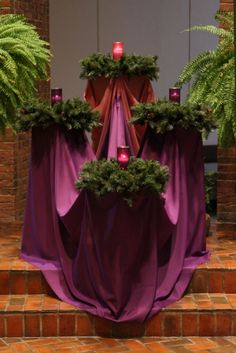 Unique Advent wreath, my mom would love this!