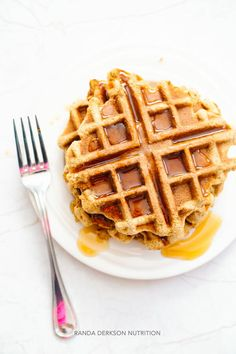 These gluten free coconut flour waffles have been requested again and again by my picky seven year old. They're so simple, I never even thought to publish them as a recipe. Until today.  I'm always throwing random stuff together and hoping for the best.  Experimenting in the kitchen is what I'm known for. Sometimes I create incredible dishes, and sometimes they're total flops. Don't be scared to cook! Experiment and find what works for you.  That's exactly what I did for these coconut flour…