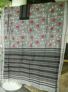 Kantha work on sarees
