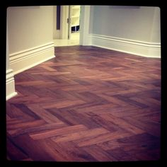 WD kills it with another floor. Walnut Herringbone from their Empire Collection.