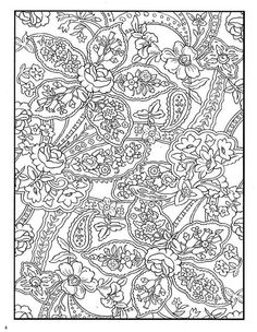 Abstract doodle Coloring pages colouring adult detailed advanced printable Kleuren voor volwassenen pretty paisley flowers