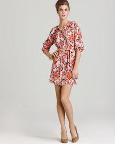Quotation: Tucker Dress - Silk Floral Print Mini
