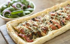 Chicken Olive and Pepper Tart