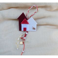 Handmade charm 'LITTLE TOWN' , for good luck. Happy Art, Quiet Books, Handmade Felt, Felt Crafts, Drop Earrings, Christmas Ornaments, Holiday Decor, Jewelry, Jewlery